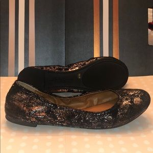 Copper Metallic Lucky Brand Flats